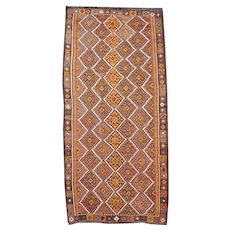 Beautiful Vintage Large Size Kilim