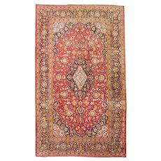 Vintage Kashan Silk Rug
