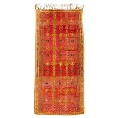 Fantastic Vintage North African Tribal Moroccan Berber Carpet