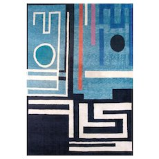 Handwoven Rug by Genevieve Claisse