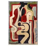Silk Artistic Rug By Auguste Herbin