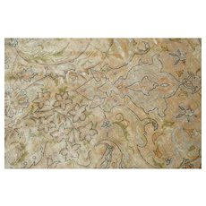 Natural Silk Tabriz Rug by Didier Marien
