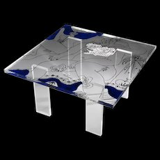 Beautiful Theo Tobiasse Nostalgie Coffee Table Signed and Numbered
