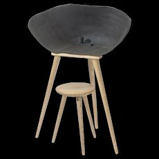 Beautiful Jellyfish Ceramic Chair by Clement Brazille