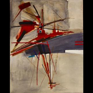 """Huguette Arthur-Bertrand Beautiful painting """"Kablonn - Powanu"""", 1959"""