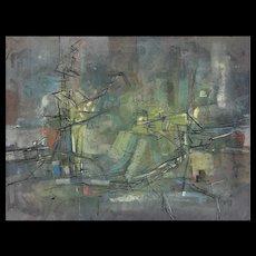 Francis Bott - Untitled - Signed Painting, 1955