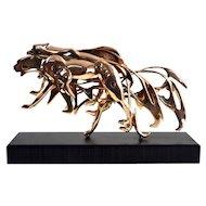Arman - Gilded Panther - Sculpture