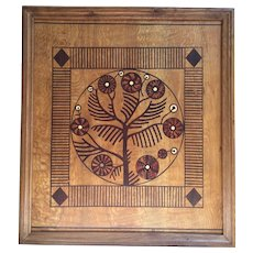 Art Nouveau ( Jugendstil ) wooden screen panel, Austro-Hungarian circa 1910-1920