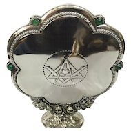 Freemason silver religious object 1920