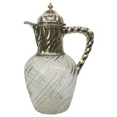Silver wine jug , France 1880-1900