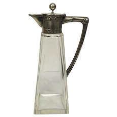 Germen secession silver wine jug, circa 1910