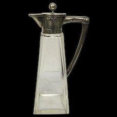 Germen secession silver wine jug, circa 1910