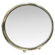 Silver oval mirror , Hungary 1920-1930