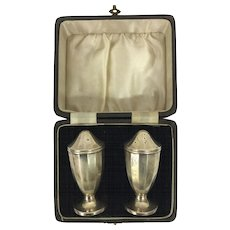 Salt & Pepper silver in original box , England