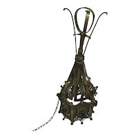 Silver wedding bouquet holder , Biedermeier circa 1830 with glass stones