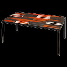 """Mid-Century Modern coffee table by Roger Capron South of France Vallauris circa 1950 """"Navettes"""" design"""