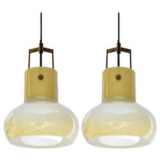 Pair of Studio Venni Pendants, Italy, 1950s