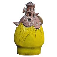 Abstract Lidded Figure with Shield by Gilbert Portanier,  1973 France