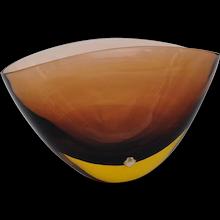 Murano Glass Centerpiece Vase by Archimede Seguso and Flavio Poli