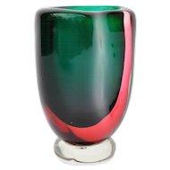 Thick Kidney Form Murano Glass Vase from The Seguso Vetri Workshop
