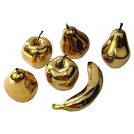 A Set of Life-Size Gilded Bronze Fruits, France, c. 1980s