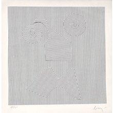Kinetic Cutout by enrico Baj, Italy 1970s
