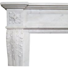 An Antique Marble Louis XVI Style French Fireplace