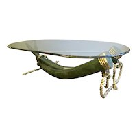 A Bronze and Gilt Brass Valenti Tusk Table