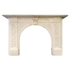 A 19th Century Arched Statuary White Marble Fireplace