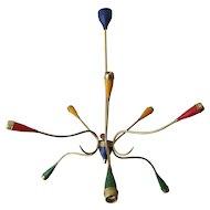 A Colourful Mid Century Italian Chandelier