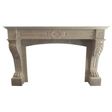 Antique French Marble Louis XVI Fireplace