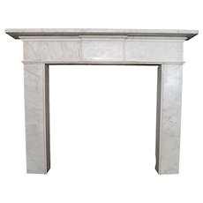 18th century Irish Architectural Marble Fireplace Mantel