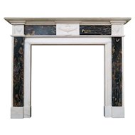 Antique English Regency Period Marble Fireplace Mantel