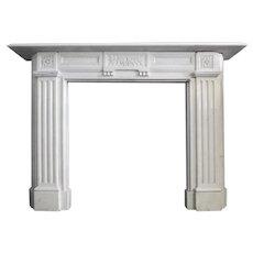 19th century Statuary White Marble Fireplace Mantel