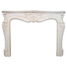 Antique French Louis XV Marble Fireplace
