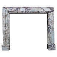 Breche Violette Marble  Bolection Fireplace Mantel