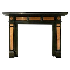 A 19th century Belgian Black Marble English Fireplace