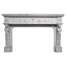 An Antique French Renaissance Style Marble Fireplace