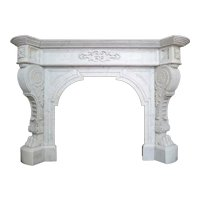 An Antique Louis XVI Style French Marble Fireplace mantel