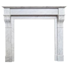 Antique French Louis XVI marble Fireplace