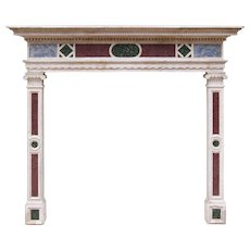 Italian Istrian Stone 18th Century Fireplace Mantel