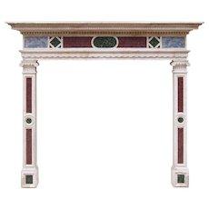Italian Istrian Stone 18th Century Fireplace Mantel