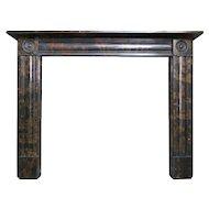 A Regency Style Marble Fireplace Mantel