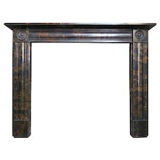 A Regency Style Marble Fireplace Mantel