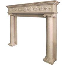 A Regency Statuary White Marble Fireplace