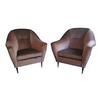 A pair of Mid Century Italian Armchairs