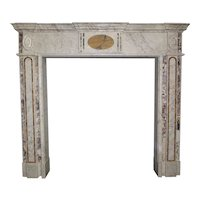 Antique Irish Georgian Marble Fireplace