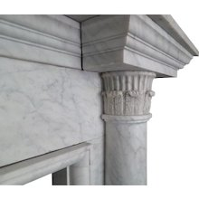 An Architectural George III Fireplace in Carrara Marble