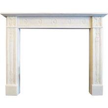 A Fine George III Statuary White Marble Fireplace