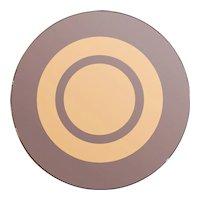 A Circular Bronze Glass Cristal Arte Mirror